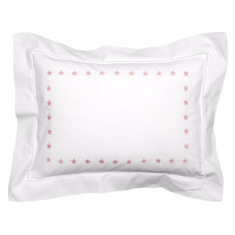 Personalised Pink Star Baby Pillowcase