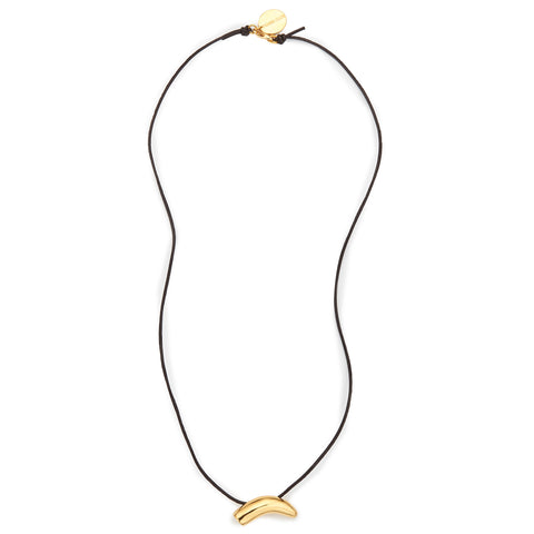 Mikumi Elephant Tusk Leather Cord Necklace
