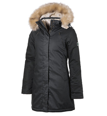 Black Ladies' Nordic Parka