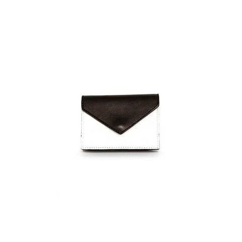 Black & White Leather Card Holder Wallet 1
