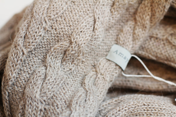 Amayi Cable Loop Snood - Oatmeal 2