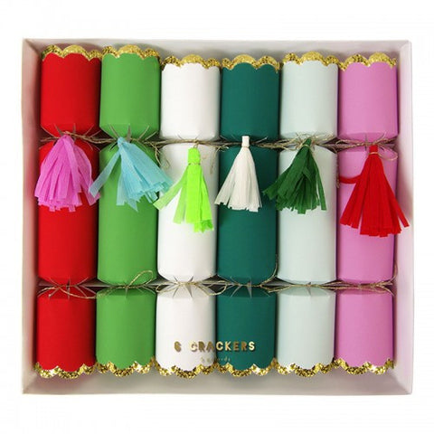 Crepe Tassel Christmas Crackers