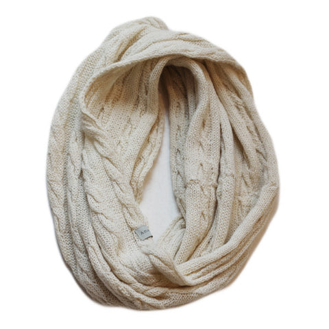 Amayi Cable Loop Snood - Cream 1