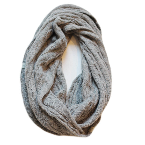 Amayi Cable Loop Snood - Grey 1