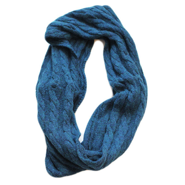 Amayi Cable Loop Snood - Teal 1
