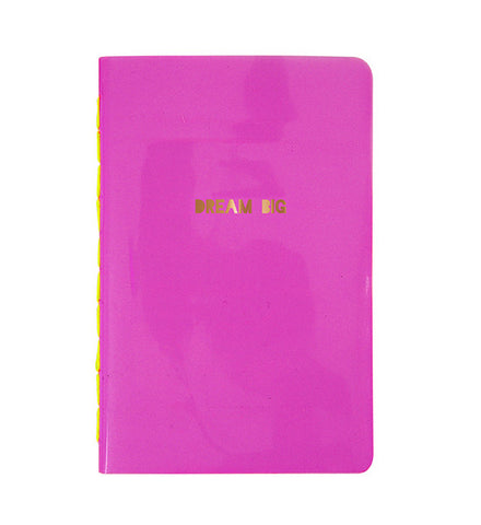 Dream Big Pink Notebook