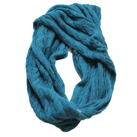 Amayi Cable Loop Snood - Sea Green 1
