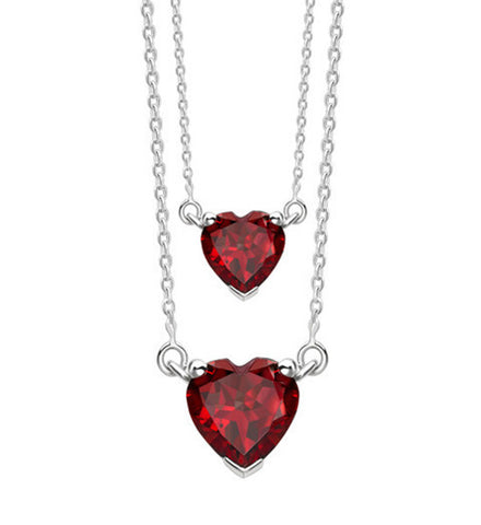 Heart Double Necklace