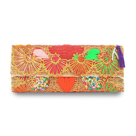 Kate Straw Clutch 1