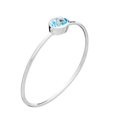 Sky Blue Topaz Bangle