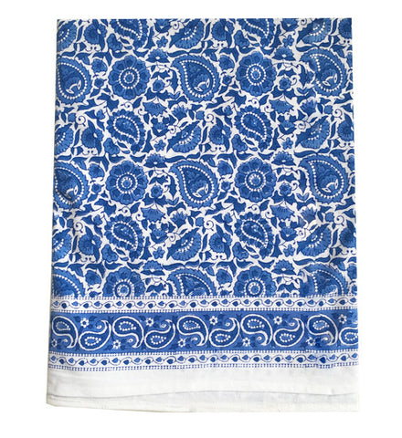 Blue Tablecloth Table Linen
