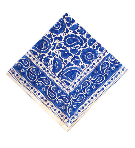 Blue Kitty Paisley Table Napkin