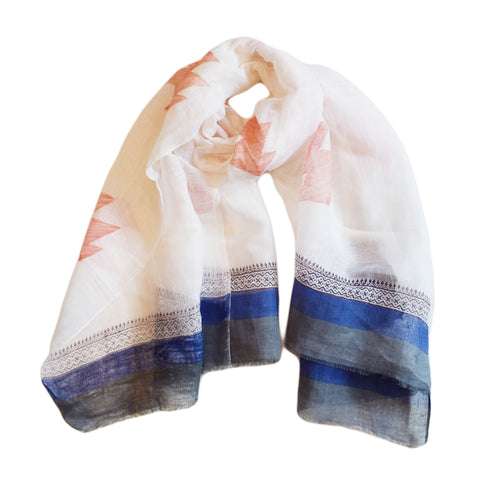 Power Print Traditional Border Scarf