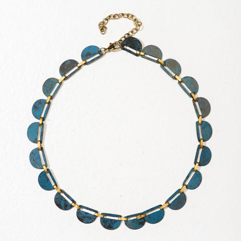 Shaheen Elegance Necklace - Blue