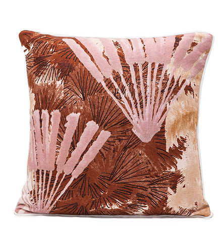 Fanjul Square Desert Palm Pillow