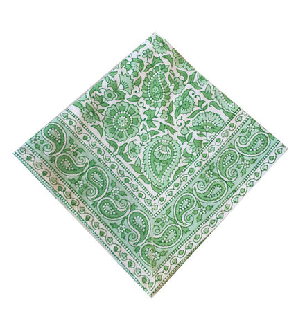 Green Kitty Paisley Table Napkin