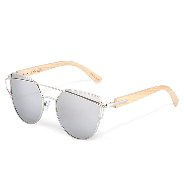 Mayfair Bamboo & Silver Sunglasses