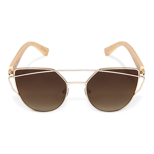 Mayfair Bamboo & Gold Sunglasses