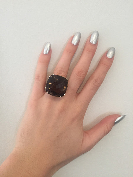 Smoky Quartz Maxi Ring