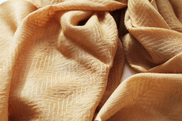Gold Wool Blend Scarf
