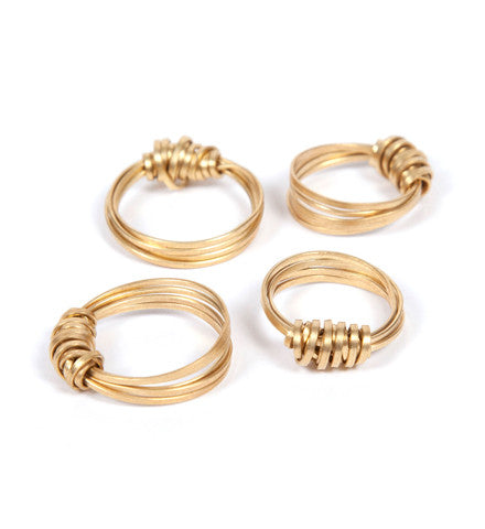 Brass Ribbon Ring (Brass)
