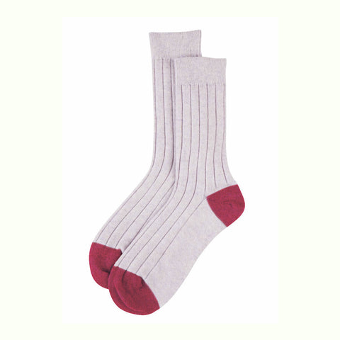 Cashmere Socks - Light Pink / Berry
