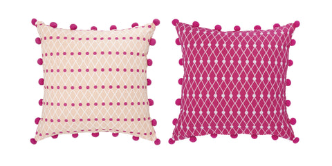 Net Block Cushion Cover 45x45