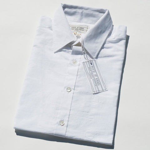 Plain White Luxury Khadi Cotton Shirt