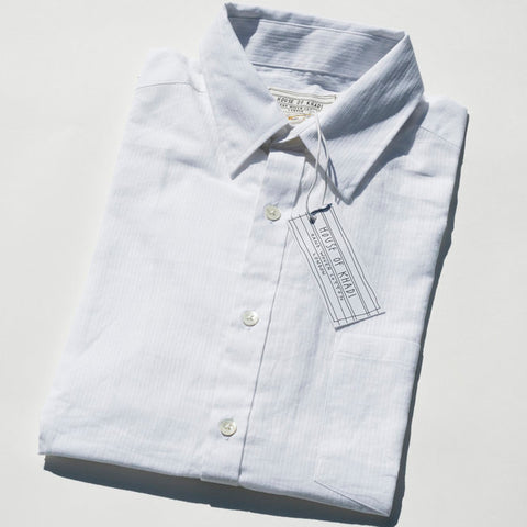 House of Khadi, White Stripe Luxury Khadi Cotton Shirt
