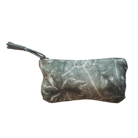 Sammy Ethopia Adis Nappa Leather Pouch in Marble Grey.