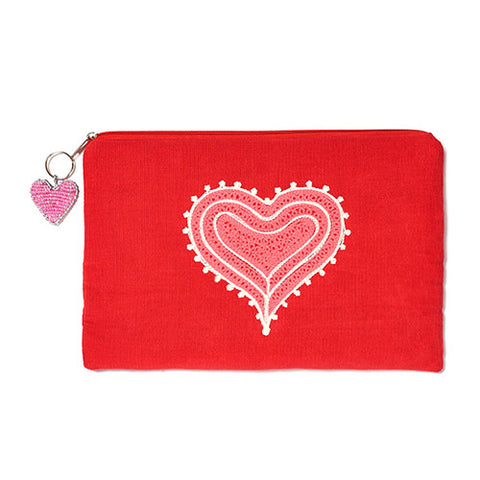 Mehendi Heart Red iPad Bag