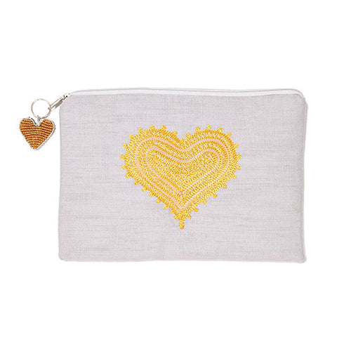 Mehendi Heart Grey iPad Bag