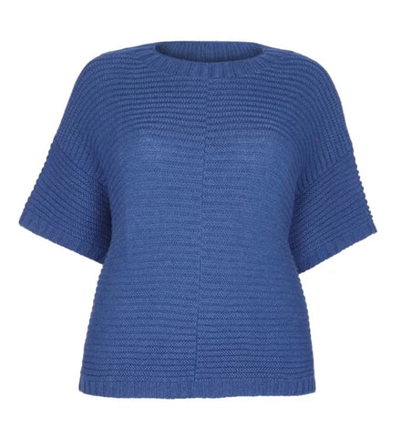 Poncho Jumper – Cashmere Merino CRADLE TO CRADLE® yarn, Blue