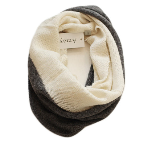 Two Tone Snood - Cream & Charcoal