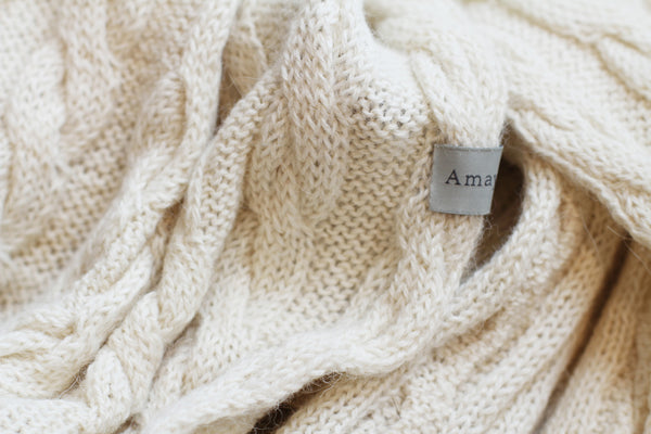 Amayi Cable Loop Snood - Cream 2