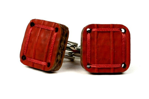 Torpedo Cuff Links - Red