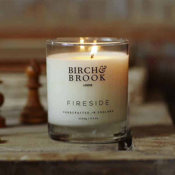 Birch & Brook's Fireside Candle available here at The Good Place. Discover our full collection of products that 'do good for people and the planet'.