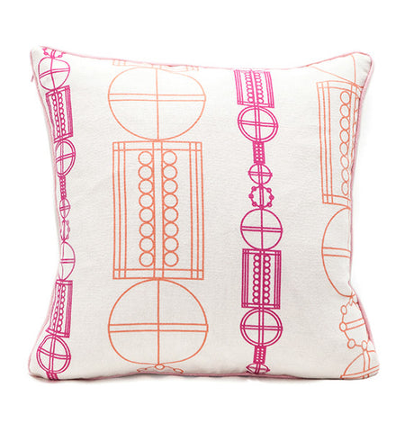 Pink Sonji Mono Square Pillow