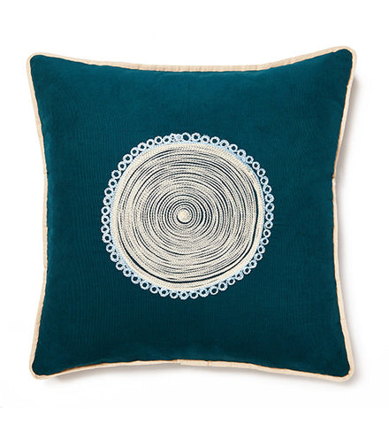 Fuji Flower Teal Cushion