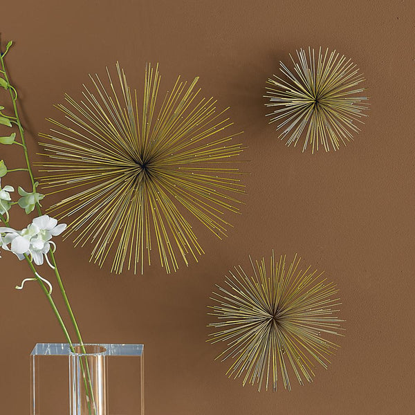 Metal Wall Flowers, Set of 3
