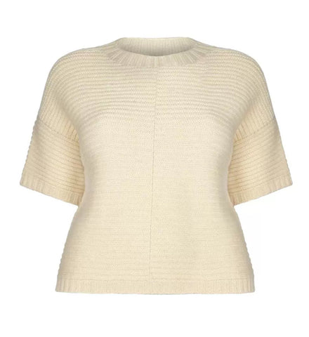 Poncho Jumper – British Wool, Ecru Cream
