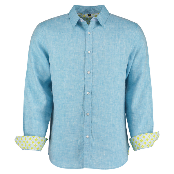 Karnataka Light Blue Linen Shirt by Tobias Clothing. Discover the new range of mens shirts at The Good PLace