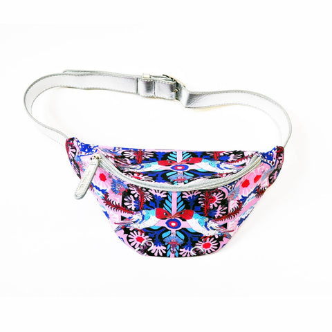 The Folk Bird Fanny Pack by Jessica Russell Flint. The perfect illustrated festival accessory.