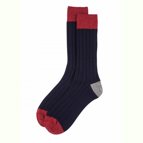 Cashmere Socks - Navy