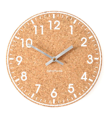Ashortwalk White & Silver Cork Clock 1