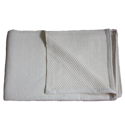 Cream Handloomed Cotton Blanket