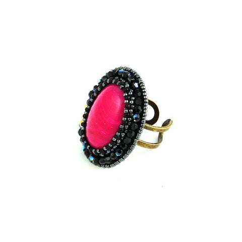 Faith Pink Agate - Ring