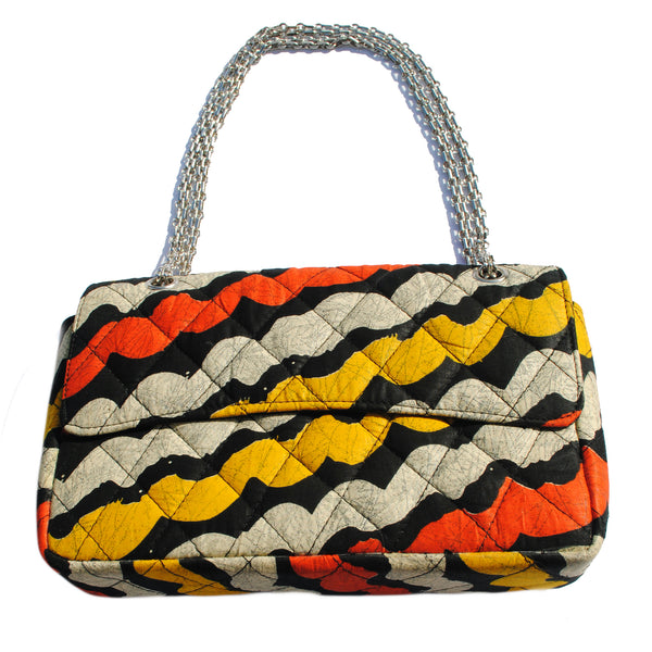 African Print Quilted Shoulder Bag