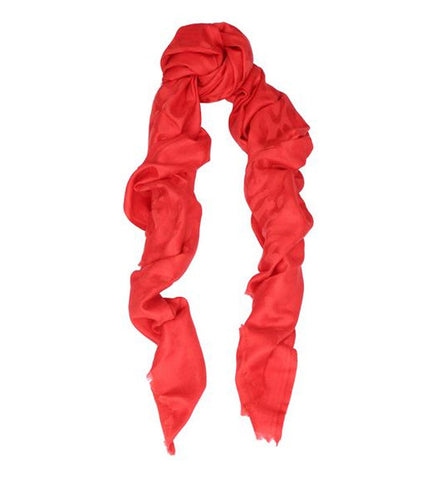 Leopard Jacquard Red Scarf