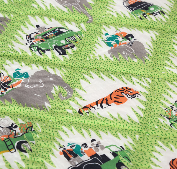Safari Trucks Baby Quilt